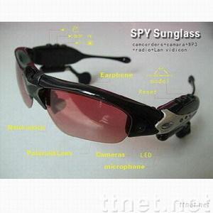Spy video sunglasses with MP3/FM internal memory 2GB