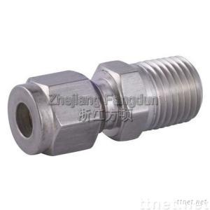 Compression Fitting, Male Connector, Double Ferrule Fitting