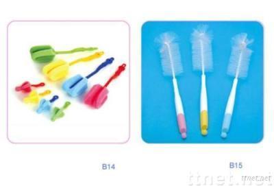 Baby sponge bottle/nipple brush set/bristle bottle and nipple brush set/baby feeding accessories/BPA free