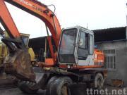 使用された日立車輪の掘削機EX100WD (秒針の車輪の掘削機)