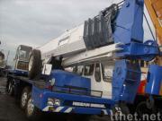 使用されたTADANOのトラッククレーンTG-500E (秒針のクレーン車50ton)