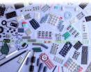 De rubbertoetsenborden van het silicium