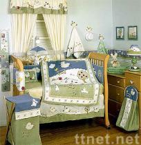 Clover Fields 6-piece Baby Crib Bedding Set