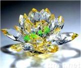 中国の水晶は水晶はす水晶を制作する