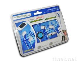Het in-Oor w/MIC van de Hoofdtelefoon van Skype voor PSP 2000
