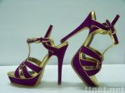 YSL sandal with purple suede leather