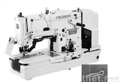 High-speed lockstitch straight button holing industrial sewing machine