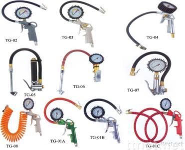 dial tire inflator/tire inflation tools/dail gauges