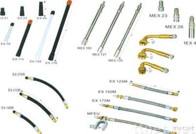 tire valve extension/tyre flexible extension/rubber/plastic extension EX150