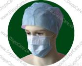 surgical face mask, disposable face mask, 3-ply tie on face mask, nonwoven face masks