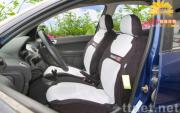 Car seat cover special for Peugeot 206(white)