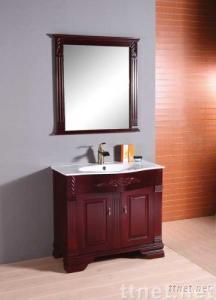 Solid wood bathroom cabinet (XD-7038)