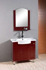 Solid wood bathroom cabinet (XD-7033)