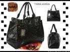 Le signore nere del hobo della spalla di Largen rivestono di pelle la borsa 0092#black della borsa