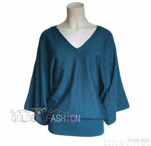100%Merino Wool Sweater for Ladies HGK9007