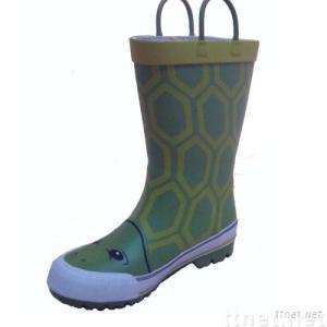 Kids rubber rain boots wellies