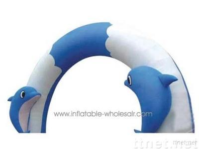 yarc010 dolphine's expecting inflatable arch