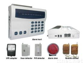 wireless and wired phone line home security alarm system