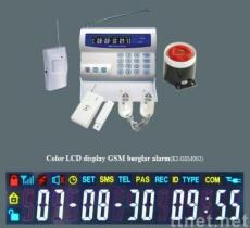 color LCD display GSM home security alarm system