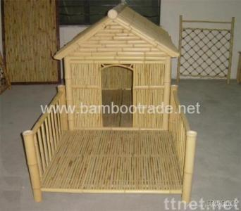 Bamboo dog house