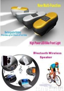 wireless Bluetooth MP3 Speaker and LED Bike front light