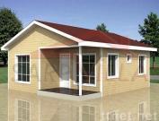 green prefab mobile home