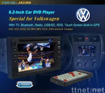 selling Double DIN In-dash Car DVD Player with TV, Radio, CDC, and Bluetooth Function, for Volkswagen