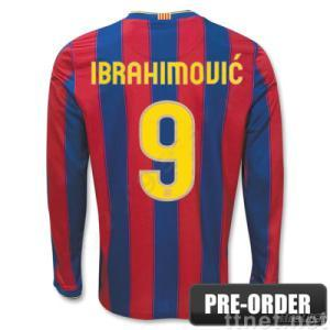 competitive price 6eeb5 d3683 Sell Barcelona 09-10 IBRAHIMOVIC 9 LS Home Soccer Jersey ...