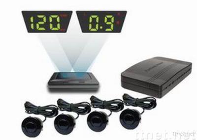 Head-up Speed Display parking sensor