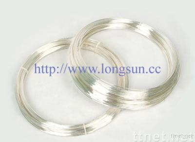 Pure Silver, Silver Alloy Contact Wire for making electrical contact rivets
