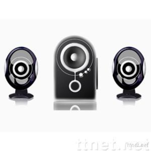 LUX2181--2.1 Desktop Multimedia Speaker with Flat Panel Satellites