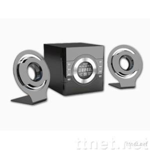 2.1 Desktop Multimedia Speaker with Flat Panel Satellites
