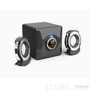 2.1 Desktop Multimedia Speaker with Flat Panel Satellites