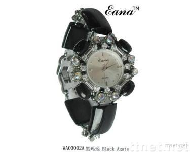 CZ diamound watches,agate jewelry,special decoration