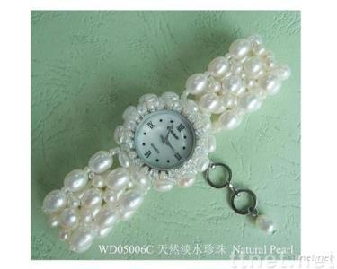 freshwater pearls,fashion novelty watches, semiprecious stone