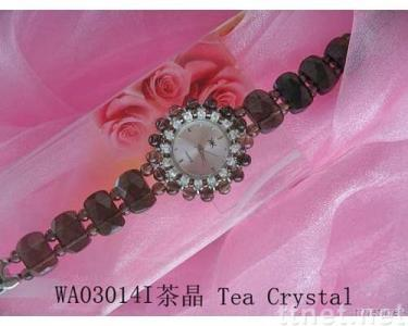 Tea crystal watches, fine jewelry,novelty decoration