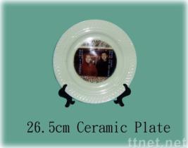 陶磁器のディナー用大皿、写真フレーム