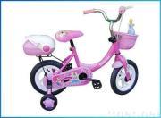children bicycle pink