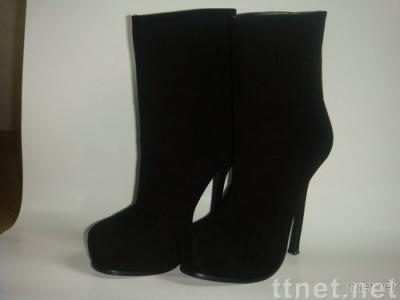 YSL boots in suede