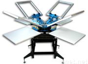 4 color/stations Screen Printing M/C