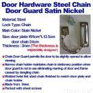 Door Hardware Steel Chain Door Guard Satin Nickel