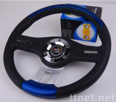 PU Steering Wheel of 13-inch Diameter, Various Colors are Available