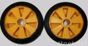 rubber and plastic wheel