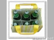 corrugated carton paper wine tote bag
