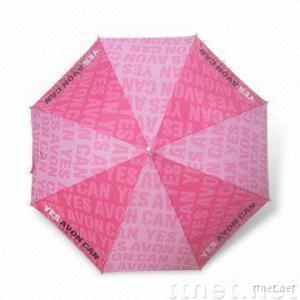 Promotional Umbrella with J-shape Plastic Handle
