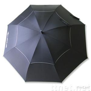 Double-layer Golf Umbrella w/Wind & Water-resistant