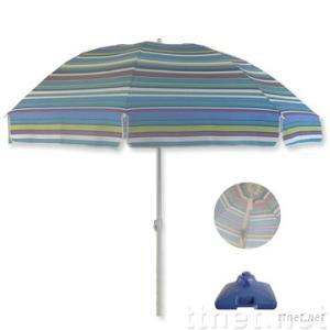 Beach Umbrella with measuring 1.8m x 8 ribs, tilt and made of Oxford fabric
