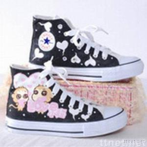 young ladies' fashion casual canvas shoes