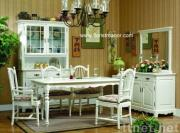 Het meubilair van de eetkamer