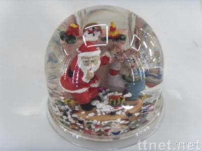 acryl snow globe